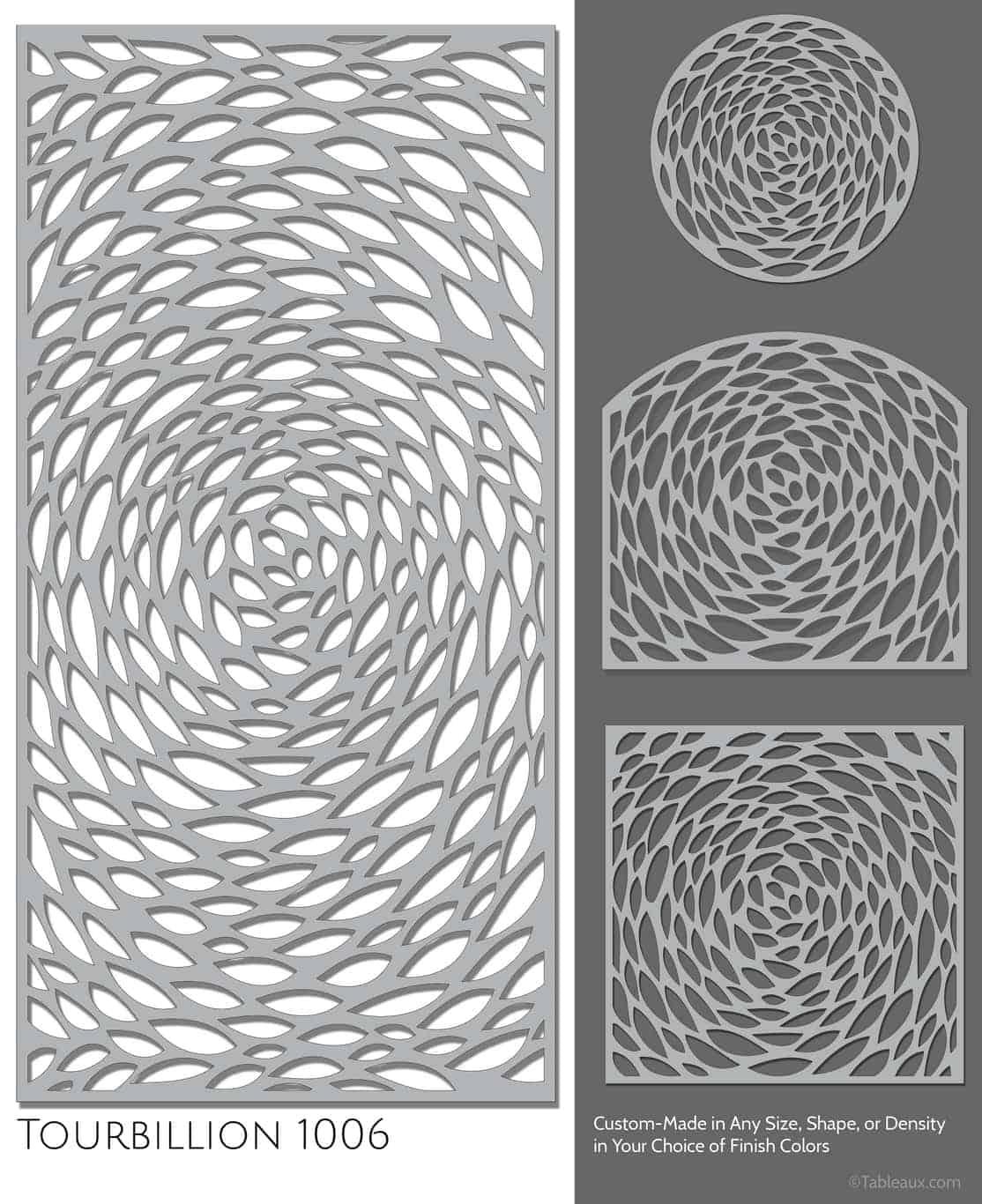 """Tableaux Decorative Grilles Design Pattern """"Tourbillion"""""""