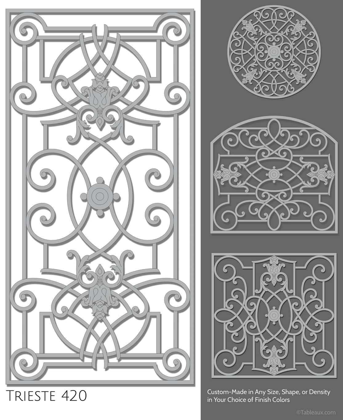 """Tableaux Decorative Grilles Design Pattern """"Trieste"""""""