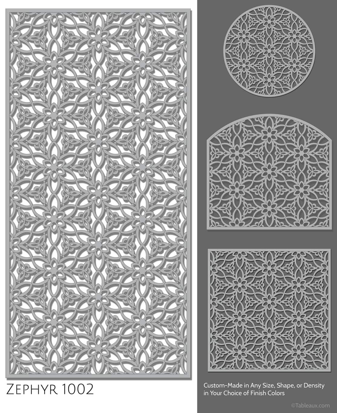 """Tableaux Decorative Grilles Design Pattern """"Zephyr"""""""